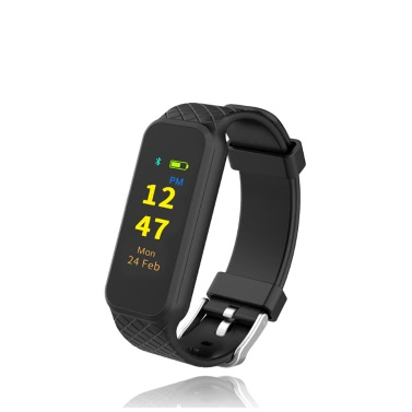 INCHOR WRISTFIT HR² Activity Tracker Smart Fitness Wristband Sports Band Watch Colorful TFT Touch Screen Heart Rate Tracking Steps Distance Time Calories Health Sleep Monitor BT 4.0 Message Reminder Call Notification Sedentary Alarm
