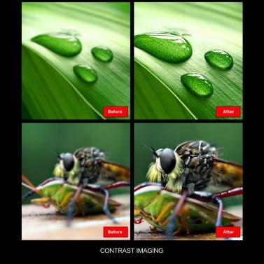 2 in 1 Universal Detachable Clip on Mobile Phone Lens 235 Degree Super Fish Eye + 20 X Macro Camera Lens for Smartphone