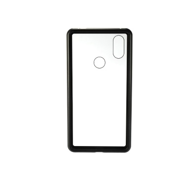 Metallrand Handy-Gehäuse gehärtetes Glas magnetische Adsorption Schutz Smartphone Cover