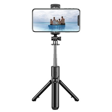 BT Selfie Stick Foldable Tripod 360° Rotation Multi-functional Handheld Adjustable Mobile Phone Holder for Taking Pictures Live Show Recording Videos