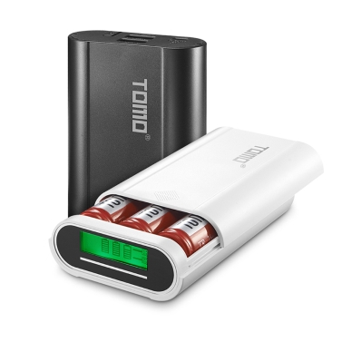 TOMO M3 Battery Charger 3*18650 Power Bank External USB Charger with Intelligent LCD Display for iPhone X Samsung S8 Note 8