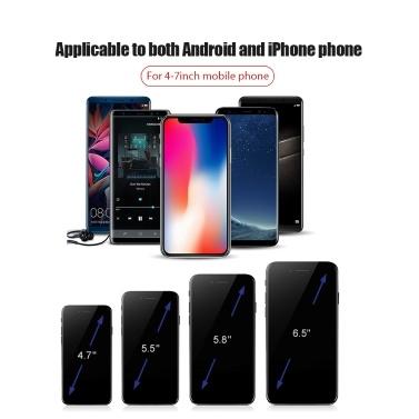 Xiaomi Baseus Universal Smartphone Auto Air Vent Halterung Handyhalter Auto Mittelkonsole Navigationshalterung horizontale Bildschirm Unterstützung Auto Kompatibel mit iPhone4.7-6.5 Zoll