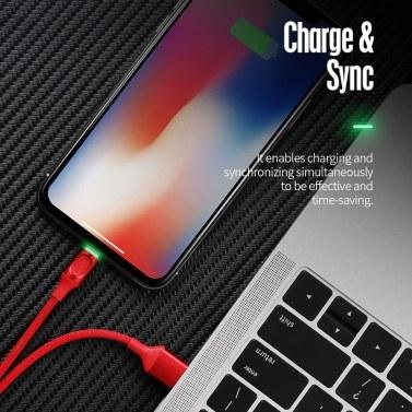 ROCK 100 cm Lightning Metal Datenkabel automatisch trennen USB-Blitz-Schnelllade-Synchronisierungskabel für iPhone iPad