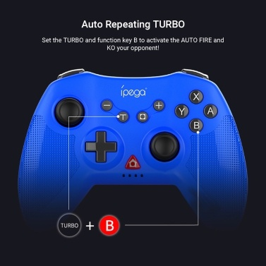 iPega PG-SW020 Gamepad Six-axis Wireless Game Controller with Dual Shock Motors Joystick Triggers