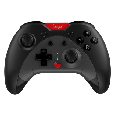 iPega PG-SW023 Wireless Game Controller Rechargeable Remote Gamepad Joystick 6-Axis Gyroscope/Dual-Motor Vibration/Key Programming Function Gaming Controller Replacement Nu00b7S PS3 Android Window PC Black