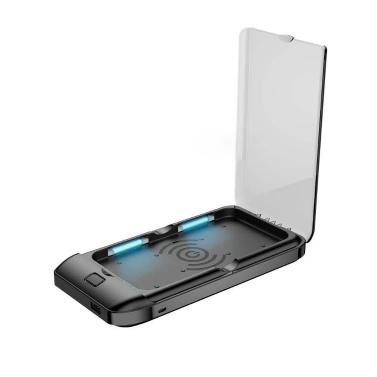 3 in 1 Hygienic UV Light Box Telefonreiniger Drahtloses Ladegerät