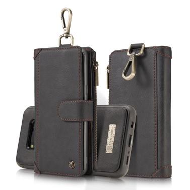 CaseMe 009 Multifunktions-Geldbörse Phone Case Card-Slot Schutzhülle mit Metall Gürtelschnalle für 6,2 Zoll Samsung Galaxy S8 Plus umweltfreundliche stilvolle Tragbare Anti-Kratzer Anti-Staub Durable