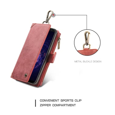 CaseMe 009 Multi-functional Wallet Phone Case Card-slot Protective Cover with Metal Buckle for 6.2 Inches Samsung Galaxy S8 Plus Eco-friendly Stylish Portable Anti-scratch Anti-dust Durable