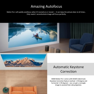 Global Version XGIMI MoGo Pro+ Android TV Projector