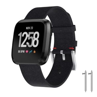 SDFB-001 Correa de reloj Correa Fitbit Correa de muñeca de tela tejida Reemplazo de pulsera para reloj inteligente Fitbit Versa Fitness