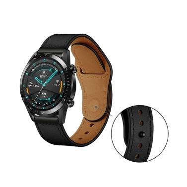 22mm Top Grain Leder Uhrenarmband Quick Release Ersatz Uhrenarmband