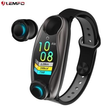 LEMFO LT04 Sport Smartwatch Intelligente Uhr und Kopfhörer Silber