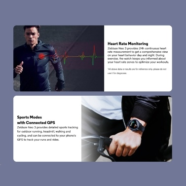 Zeblaze NEO 3 Smart Watch Compatible with Android 4.4 / IOS 9.0 and above