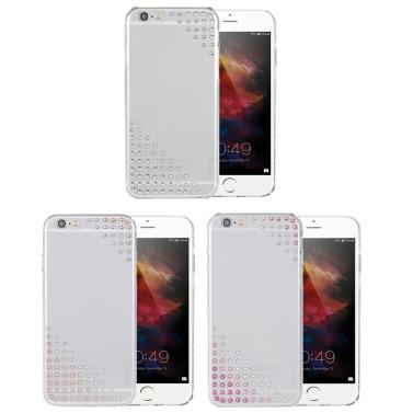 X-Einbau Swarovski Telefonkasten Schutzhülle Shell für 4,7 Zoll iPhone 6 6S umweltfreundliches Material stilvolle bewegliche ultradünne Anti-Kratzer Anti-Staub Durable