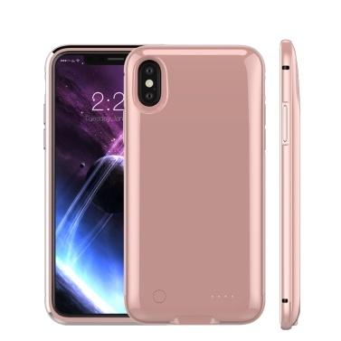 Für iPhone X 5000mAh Telefon Externer Akku Externer USB-Anschluss Power Bank Ladegerät Pack Sicherungsbatterie Fall