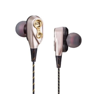 In-Ear-Kopfhörer mit zwei beweglichen Spulen