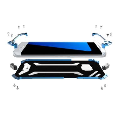 Original R-JUST Transformer Carbon Fiber Metal Aluminum Frame Gundam Outdoor Climbing Case Cover for Samsung S7 Edge