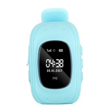0.96inch OLED Screen Kids Smart Watch Phone Girls Boys Children Gifts GPS Tracker Locator Smartwatch SIM Card Slot Remote Monitor Real-time Location Anti-lost Call SOS Alarm Pedometer Suitable iOS Android Smartphones