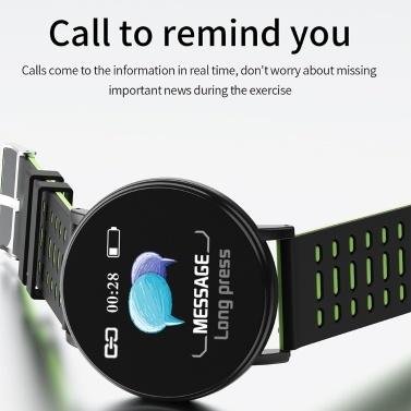 Y19 Intelligente Uhr Farbbildschirm BT Sport IP68 Wasserdichte Uhr Schritte Zählen Blutdruck Herzfrequenzmessung Fitness Uhr