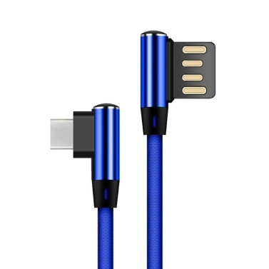 L Type Type-C Data Cable TPE Fabric Braided Fast Charge Stable Data Transmission Charging Cable Samsung Galaxy S9 S8 Note 8 LG V30 G6 G5 OnePlus 5 3T