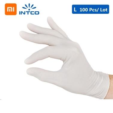 100 Stück Xiaomi Youpin INTCO Einweg-Nitrilhandschuhe für zu Hause Clean Medical Friseur Gartenhandschuhe Universal für die linke rechte Hand