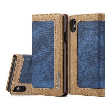CaseMe Multifunktions-Telefon-Kasten-Abdeckung PU-lederner schützender Shell-Mappen-Telefon-Kasten-Schlag-Holster, der Fall-Kartenhalter für iPhone X trägt
