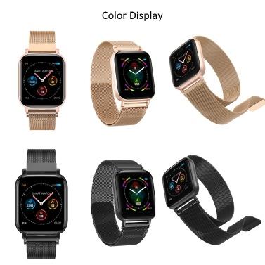 Smartwatch Männer Frauen Full Touch Bunter Bildschirm Silikonband IP67 Wasserdicht Anruferinnerung Schritte Zählen Schlafmonitor Herzfrequenz Blutdruck Fitnessüberwachung Neueste Multi-Sport-Modus Smartwatch