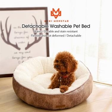 Xiaomi Youpin Pet Weichbett für Hunde Katzen Abnehmbare Hundehütte Haustierbett Nest Rutschfeste Wasserdichte Basis Maschinenwaschbar Langlebig Heimtierbedarf