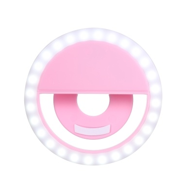 Led Selfie Light Circle Flash Fill Clip Camera Lamp Portable Dimmable Supplementary Light For Mobile Phone & Tablets