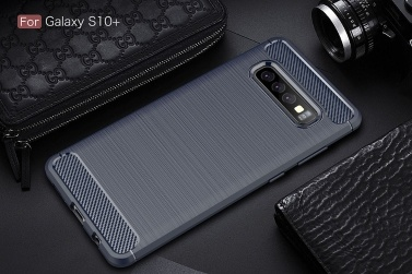 Telefonkasten Carbon Fiber Wire Zeichnung TPU Telefon Schutz Abdeckung Einfache Leichte Handy-Schutz für Samsung Galaxy S10 Plus