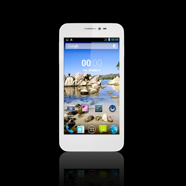 """Cubot P6 Android 4.2 3G Smartphone 5"""" IPS QHD MTK6572W A7 Dualcore 1.3GHz 2MP/8MP 512 MB RAM + 4GB ROM BT GPS WiFi weiss"""