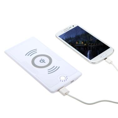 5V QI Wireless Ladegerät Transmitter Power Bank 6000mAh für Nokia Lumia 920/820 Nexus 4/5-iPhone 4/4 s Samsung Galaxy S3/Note 2 White EU Plug