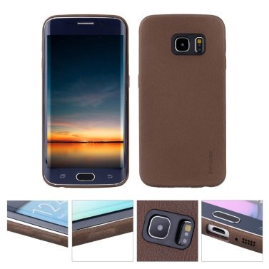 G-CASE PC Leder Case Cover Hinter Haut Abeckung Schutzhülle für Samsung S6