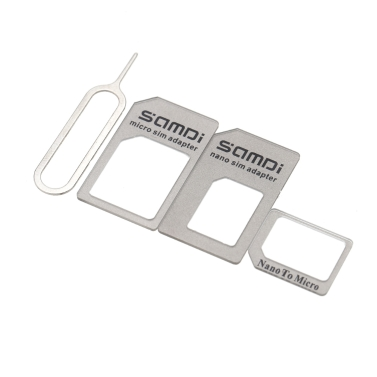 Samdi Universal Nano SIM Adapter Micro SIM Adapter Nano to Micro Adapter with Card Needle Kit for iPhone 6 6S 5S 5 4S