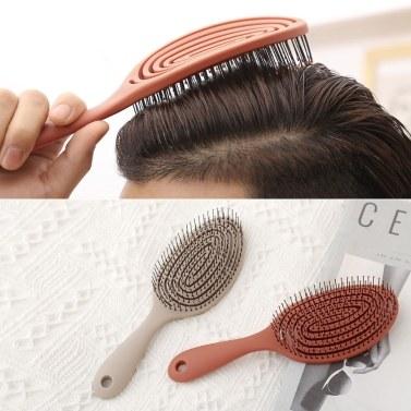 Xiaomi Mijia Entspannender elastischer Massagekamm Tragbare Haarbürste Massagebürste Antistatische Zauberbürsten Kopfkämme