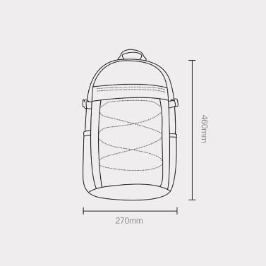 Xiaomi Youpin IGNITE Rucksack Mode Umhängetasche Sporttasche Wasserdichter Schulterrucksack Outdoor Rucksack Laptop Business Tasche 23L Für Männer Frauen