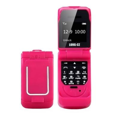 LONG-CZ J9 BT Mini-Flip-Funktionstelefon 0,66-Zoll-64-MB-B-Lautsprecherkonfiguration Voice Changer Telefonbuch Anruf SMS Alarm SOS Mehrsprachig FM 2G-Mobiltelefon