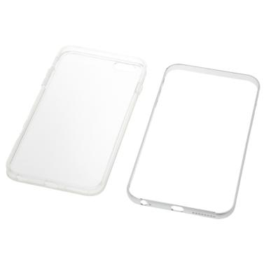 KKmoon Metallische Rahmen + TPU Phone Hülle Schutzabdeckung Schale für  iPhone 6 Plus 6S Plus Umweltfreundliches Material Stilvoll Tragbar Ultradünn Anti-Kratz Anti-Staub Langlebig