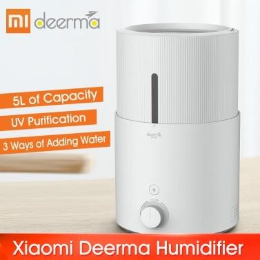 Xiaomi Deerma Luftbefeuchter 5L Hinzufügen von Wasser Verdunstungs Luftdämpfer Aroma Luftbefeuchter Diffusor Nebel Luftbefeuchter mit LED-Licht für Auto Home Office Outdoor 220V