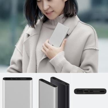 Xiaomi Mi Power Bank 3 10000mAh USB-C Zwei-Wege-Schnellladegerät Powerbank 18W MAX Reiseladeadapter für iPhone Samsung Huawei Xiaomi PLM12ZM