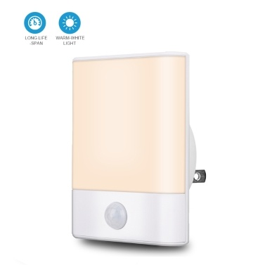 LED-Night Light Warm Plug into Wall with Motion Sensor Auto Turn On and Off Wall Light for Bedroom Bathroom Stairs Hallway Kitchen Warm White Pack of 2 UK Plug
