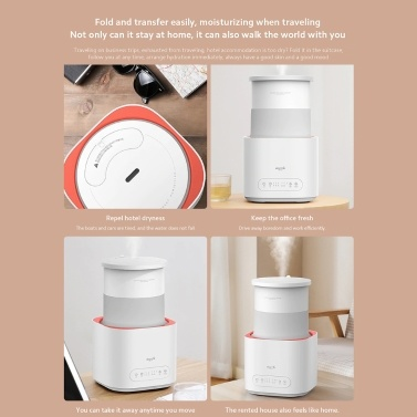 Deerma F235 Foldable Silent Humidifier 3L Large Capacity Adjustable 3 Levels of Fog White Intelligent Household Air Humidification For Home US Plug