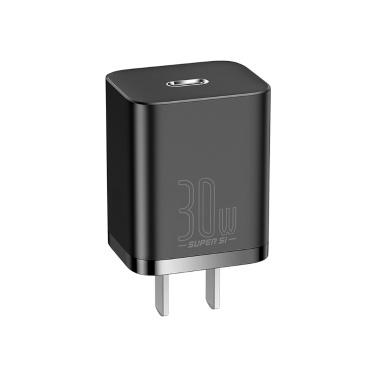 Baseus Super Si Schnellladegerät 30 W PD / QC Schnellladegerät Typ C Kompatibel mit iPhone iPad Xiaomi Huawei Smart Temperature Adjust Schnellladegerät