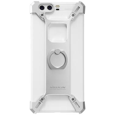 Nillkin barde metall case mit ring halter für huawei p10 plus telefon stehen abdeckung aluminiumlegierung stoßfall