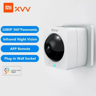 Xiaovv Smart Panoramic Camera XVV-1120S-A1 Outdoor Camera 360° 1080P HD IP High Definition Infrared Night Vision Home Security Cameras Work With Mjia APP