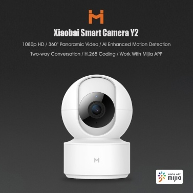IMILAB Smart Camera PTZ Y2 1080P HD 360 Angle Mijia APP Remote Monitor Wifi Night Vision AI Smart Detection Webcam Security Cam Mi Home Baby Monitor 220V