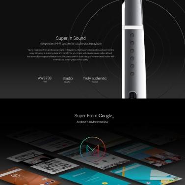 UMI Super Smartphone 4G FDD LTE 3G WCDMA MTK6755 Helio P10 64-Bit Octa-Core 5,5 Zoll FHD 1920 * 1080 Pixel Bildschirm Android 6,0 4GB + 32GB 5MP + 13MP Doppelkameras ultradünnen Metallkörper 1080p Video Fingerprint-ID entsperren PE Schnellladung Typ C