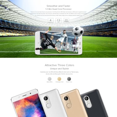LEAGOO M5 Smartphone 3G Smartphone 5.0 Zoll HD Bildschirm