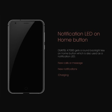 """Oukitel K7000 Smartphone 4G FDD-LTE 3G WCDMA Android 6.0 OS Quad Core MTK6737 5.0"""" IPS Screen 1.3GHz 2GB RAM 16GB ROM 2MP 5MP Dual Cameras Fingerprint Identification Aluminum Alloy Frame Notification LED on Home Button"""