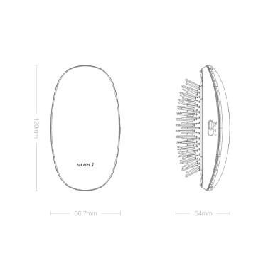 Xiaomi Comb Mi Home yueLi Tragbare Bürstenpflege Schönheit Anion Haarpflege Kopfmassage antistatisch Kamm Salon Styling Tamer Werkzeug